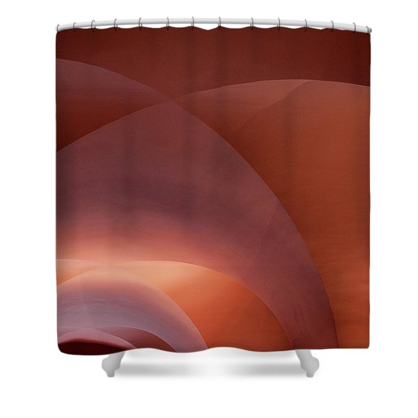 Coral Arched Ceiling Shower Curtain