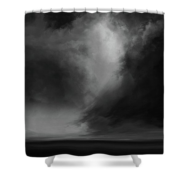 Coral Bw Shower Curtain