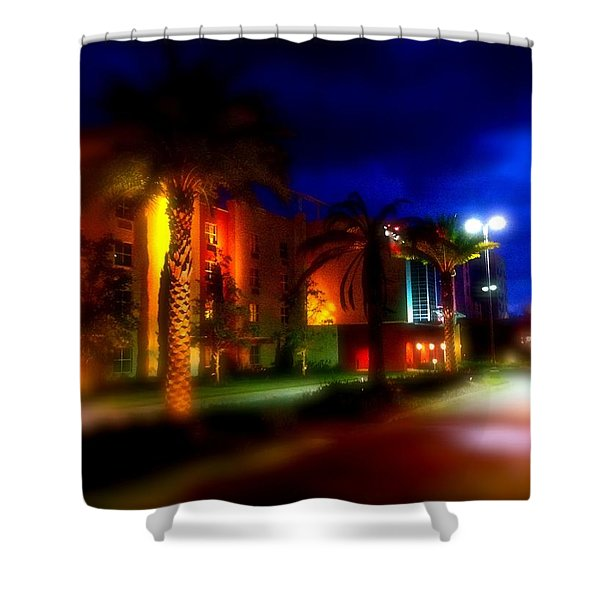 Coral Color Florida Shower Curtain