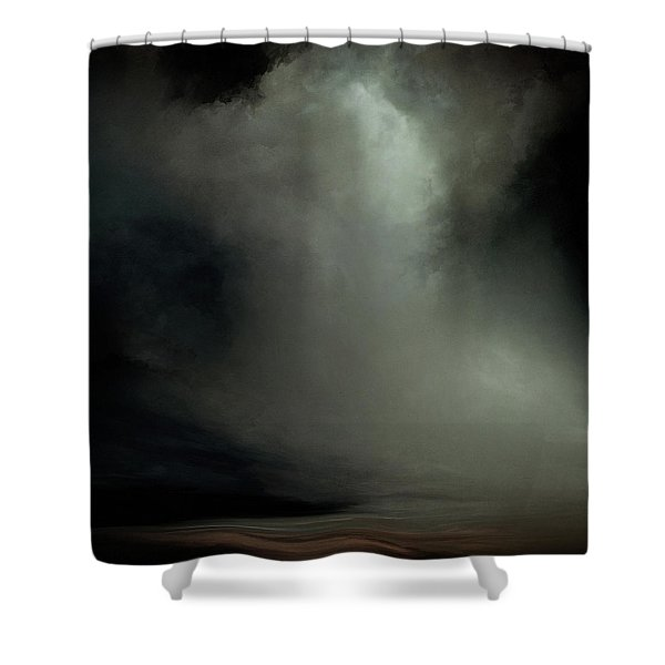 Coral - Dark Shower Curtain