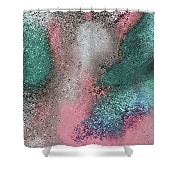 Coral, Turquoise, Teal Shower Curtain