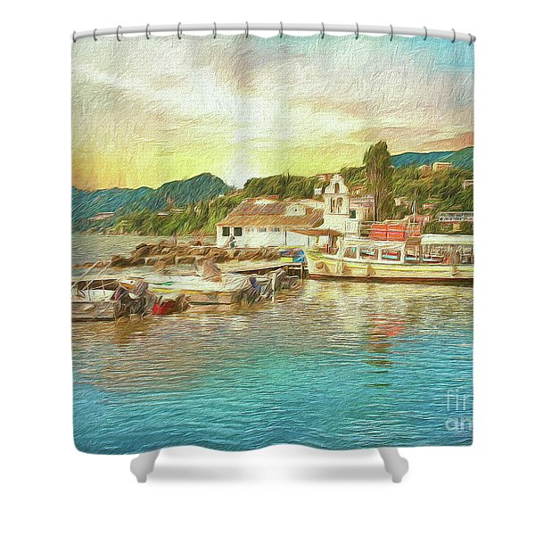Corfu 30 My Passion Paintography Shower Curtain