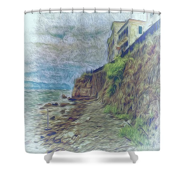 Corfu 33 - Corfu Rocks Shower Curtain