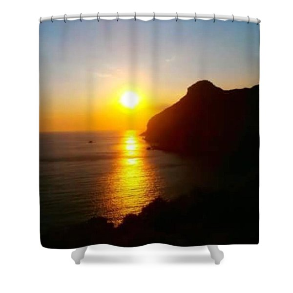 Sunset Over Sea Shower Curtain