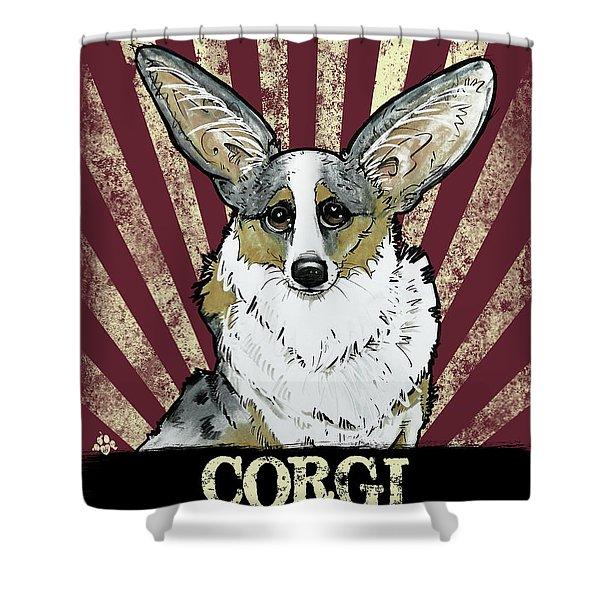 Corgi Revolution Shower Curtain