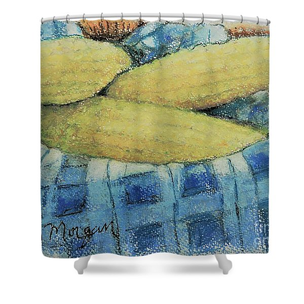 Corn In A Basket Shower Curtain