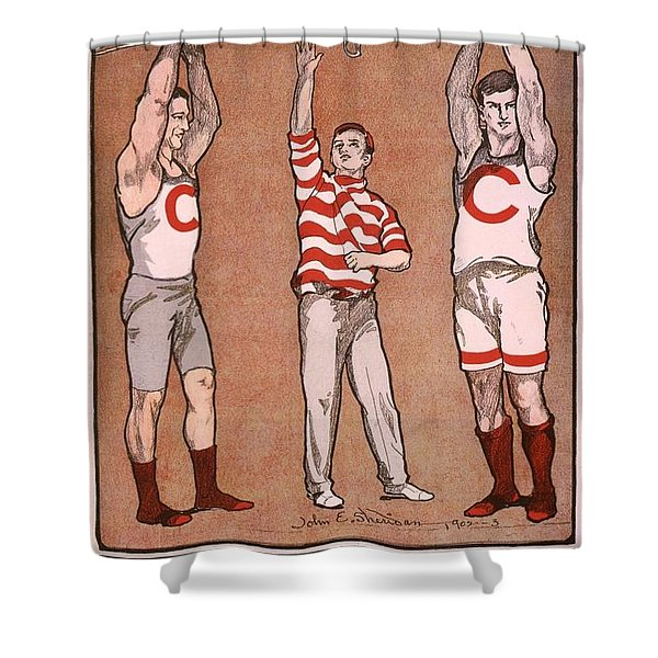 Cornell Rowing Poster  Shower Curtain