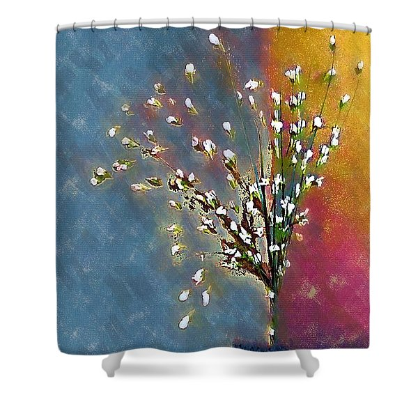 Cornered Shower Curtain