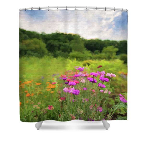Cornflower Mood Shower Curtain