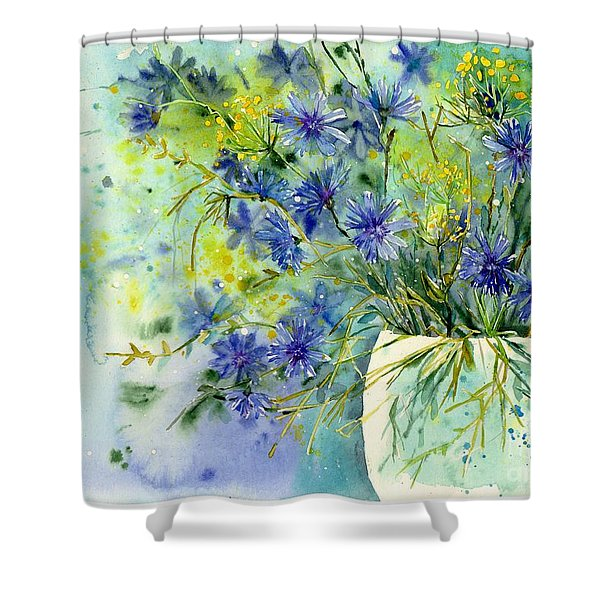Cornflowers Symphony Shower Curtain