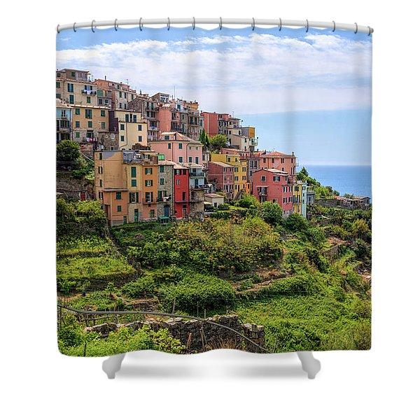 Corniglia Cinque Terre Italy Shower Curtain