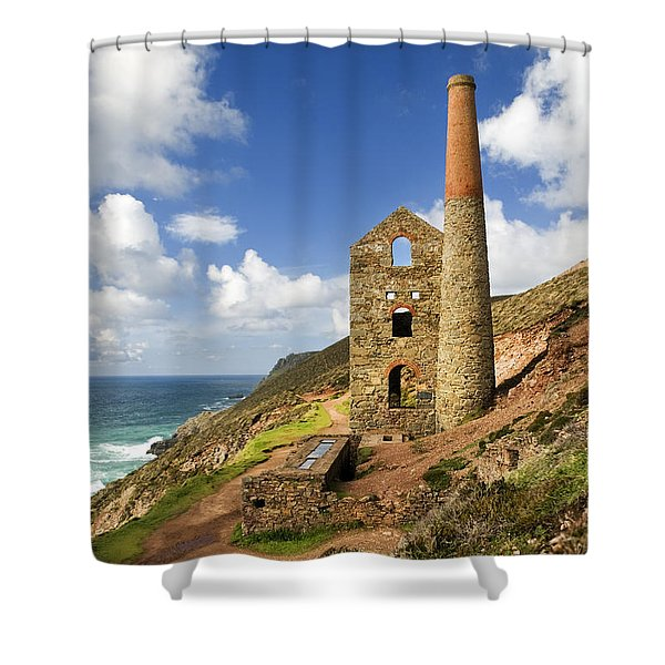 Cornish Tin Mine Shower Curtain