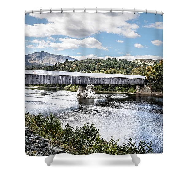Cornish Windsor Covered Bridge Hdr 2 Shower Curtain