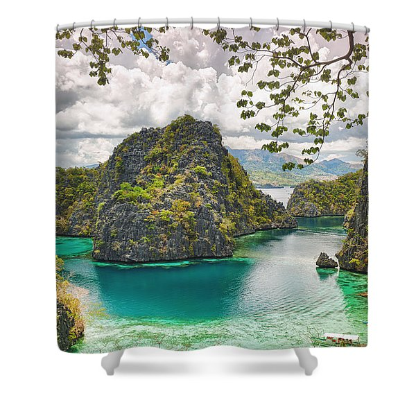 Coron Lagoon Shower Curtain