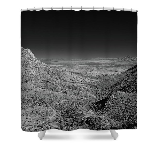 Coronado National Memorial In Infrared Shower Curtain
