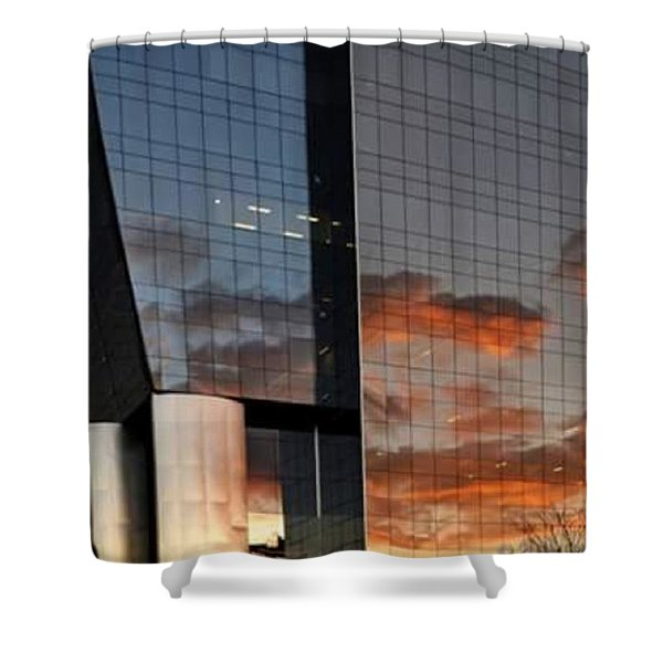 #corporative #architecture At Dusk Shower Curtain