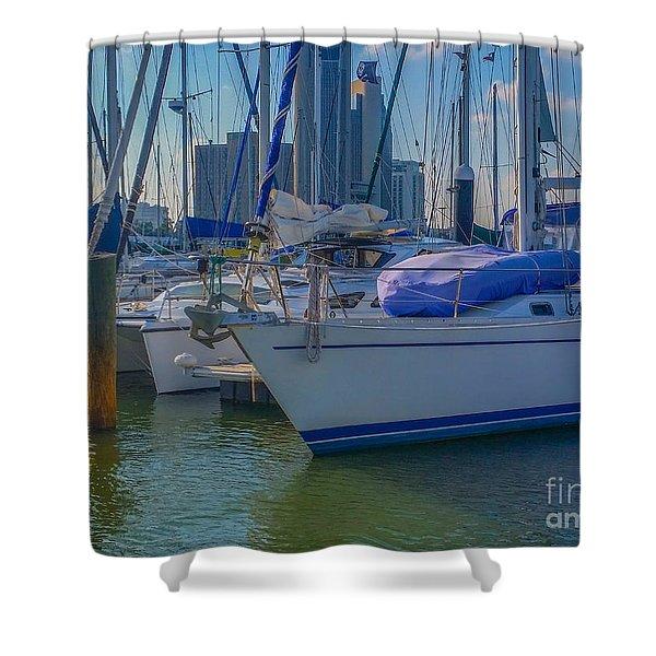 Corpus Christi Marina Shower Curtain