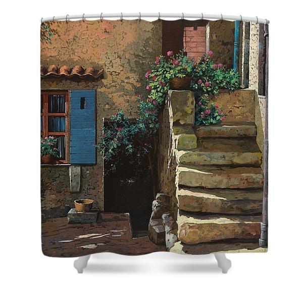 Cortile Interno Shower Curtain by Guido Borelli
