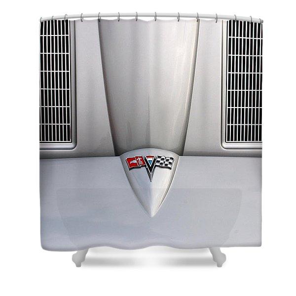 Corvette Hood Shower Curtain