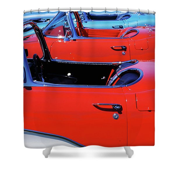 Corvette Row Shower Curtain