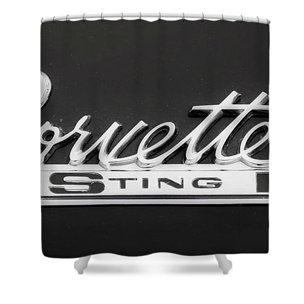 Corvette Sting Ray  Shower Curtain
