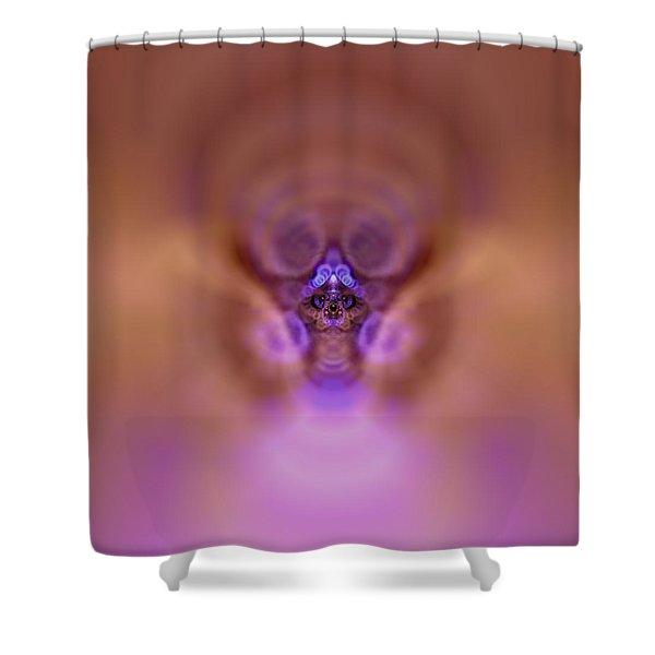 Shower Curtain featuring the digital art Cosmic Cat by Robert Thalmeier