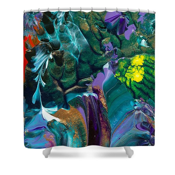 Cosmic Feathered Webbed Universe Shower Curtain