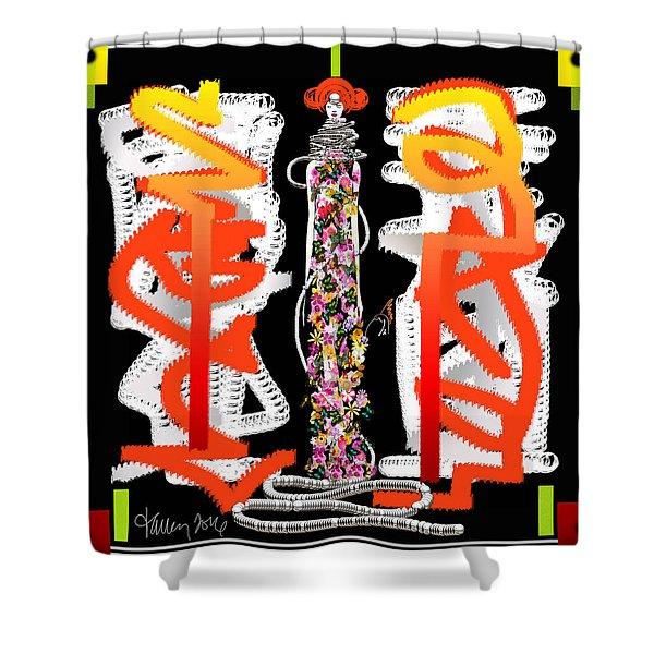 Cosmic Geisha - Dimension Hopping Shower Curtain