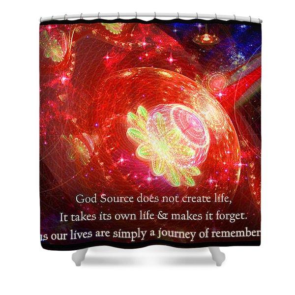 Cosmic Inspiration God Source 2 Shower Curtain