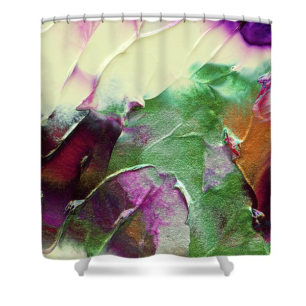 Cosmic Pearl Dust Shower Curtain