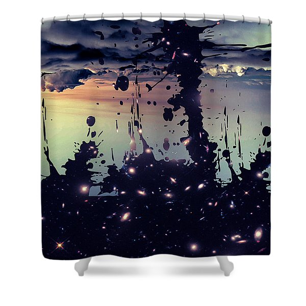 Shower Curtain featuring the photograph Cosmic Resoance No 3 by Robert G Kernodle