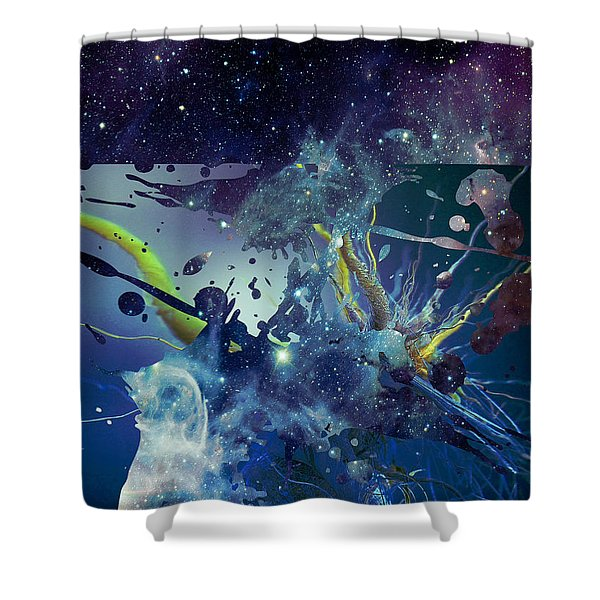 Shower Curtain featuring the photograph Cosmic Resonance No 1 by Robert G Kernodle
