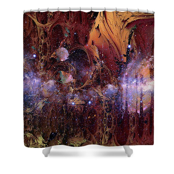 Shower Curtain featuring the photograph Cosmic Resonance No 2 by Robert G Kernodle