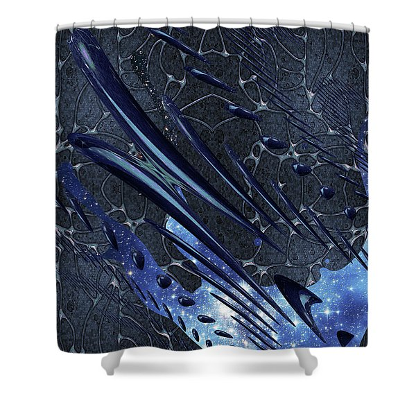 Shower Curtain featuring the photograph Cosmic Resonance No 5 by Robert G Kernodle