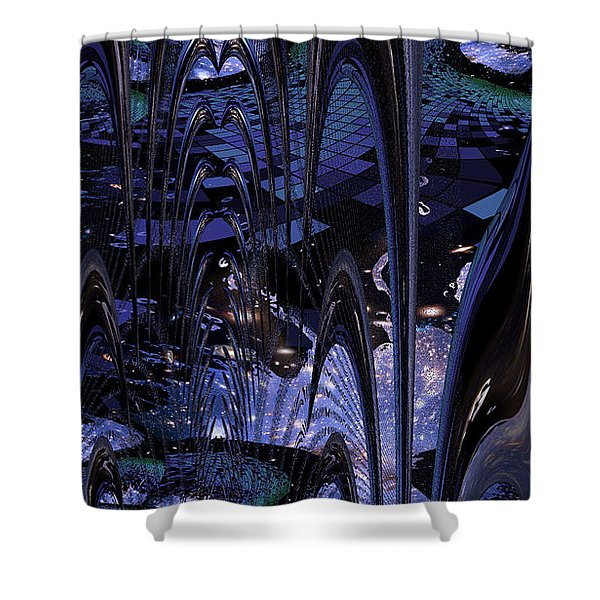 Shower Curtain featuring the photograph Cosmic Resonance No 8 by Robert G Kernodle