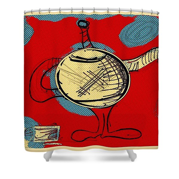 Cosmic Tea Time Shower Curtain
