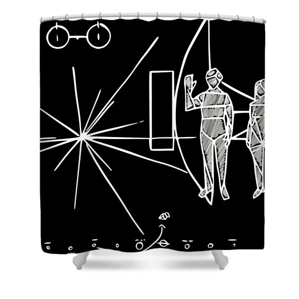 Cosmos Greetings  Shower Curtain