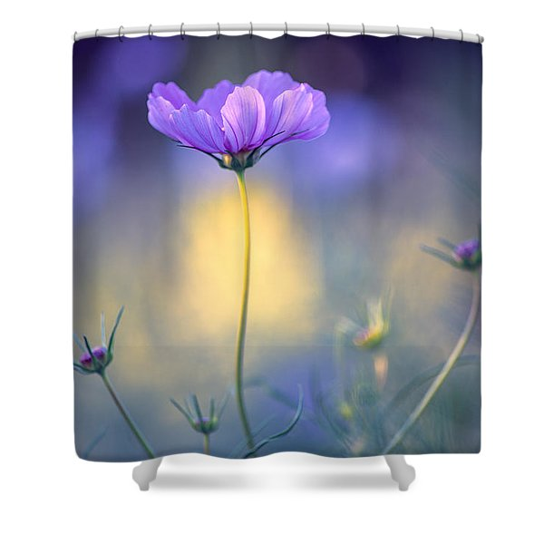 Cosmos Pose Shower Curtain