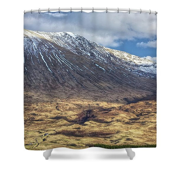 Cottage At The Base Of The Mountain Shower Curtain