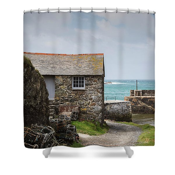 Cottage By The Sea Shower Curtain