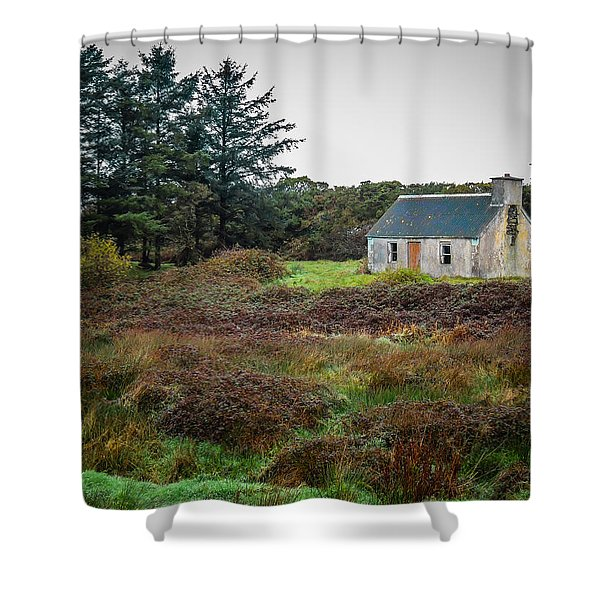 Cottage In The Irish Countryside Shower Curtain