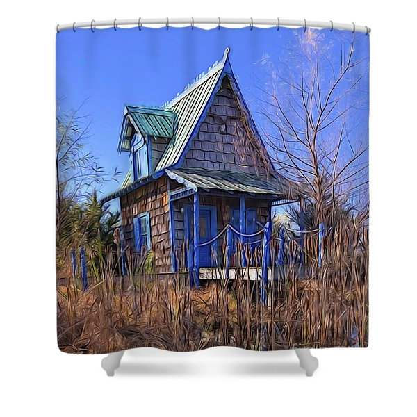 Cottage In The Willows Shower Curtain