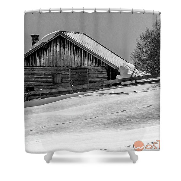 Cottage In Winter Shower Curtain