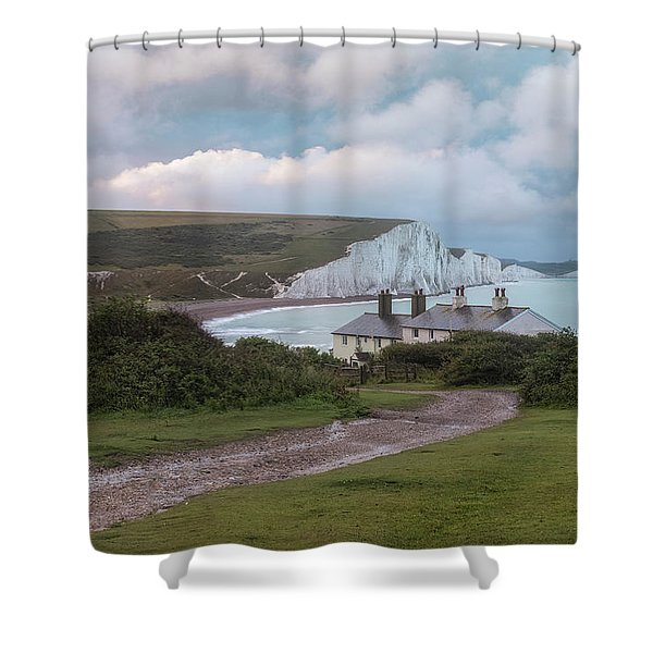 cottages Seven Sisters - England Shower Curtain