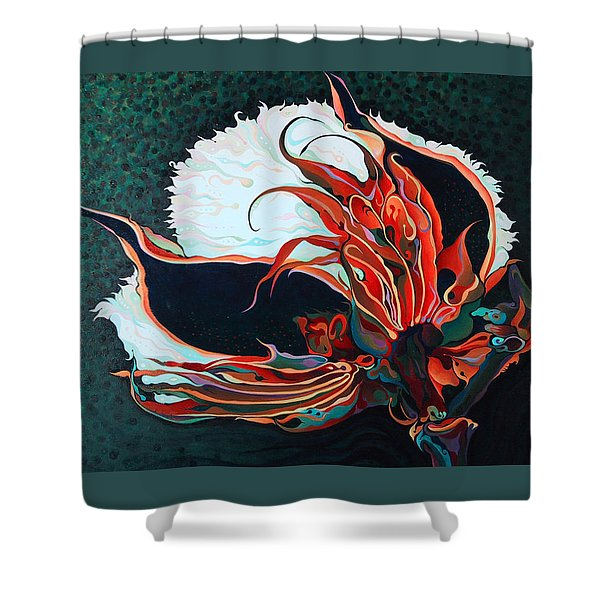 Cotton Boll Shower Curtain