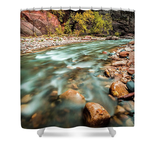Cotton Colors Shower Curtain