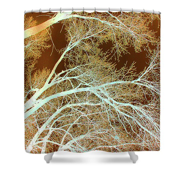 Shower Curtain featuring the photograph Cottonwood Conflux by Cris Fulton