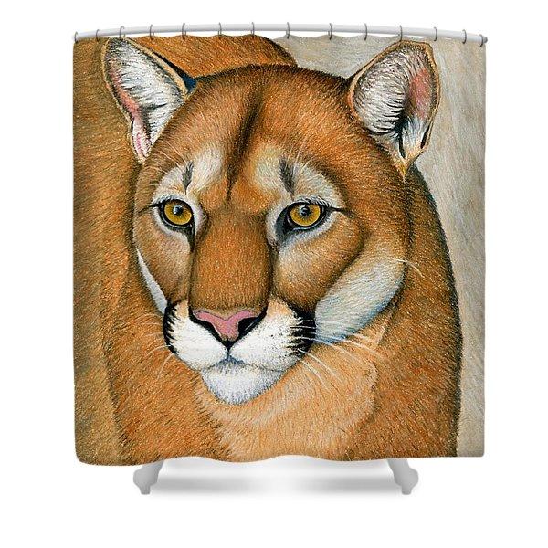 Cougar Portrait Shower Curtain