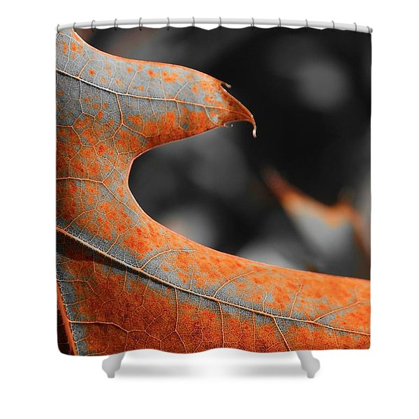 Cougar Rusty Leaf Detail Shower Curtain
