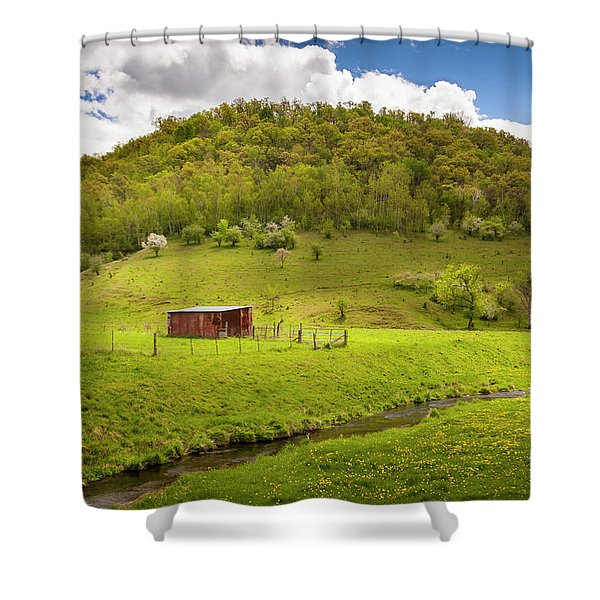 Coulee Morning Shower Curtain